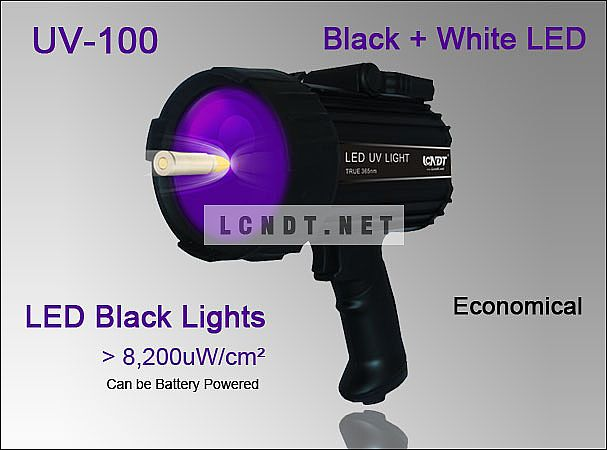 Portable LED NDT Inspection Lamp UV-100 Lights (Dual UV & White LED)