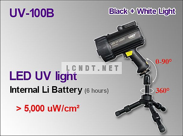 Portable LED UV lights UV-100B  with Internal Battery