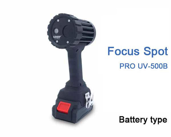 LED UV Black lights Battery powered PRO UV-500B Focus Type